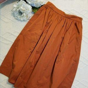 Full skirt - zara Orange satin midi