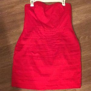 Sheer express red dress