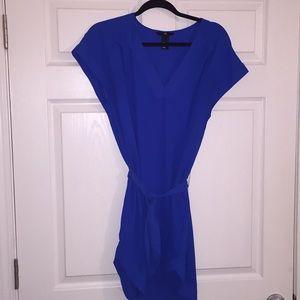Royal blue tie dress
