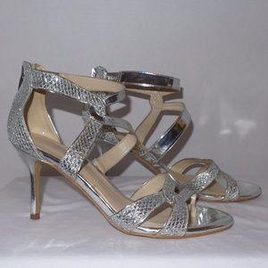 Marc Fisher Silver Lexcie Evening Heels