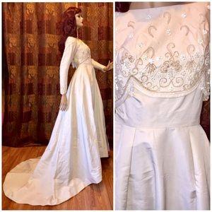 Vintage Bianchi 1950s 1960s Beaded Wedding Dress