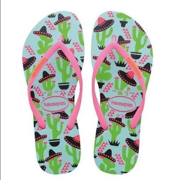 9c491042532a Havaianas Shoes - Havaianas Slim Cool Cactus and Sombreros Flip Flop