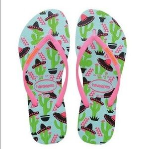 Havaianas Slim Cool Cactus and Sombreros Flip Flop