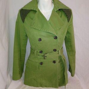 EXPRESS Women's size XS Green Trench Coat