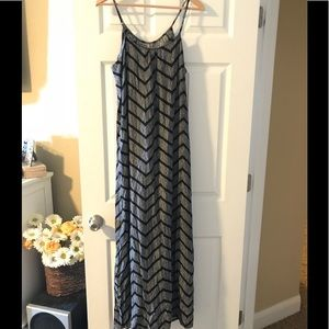 Gray and black Chevron maxi dress