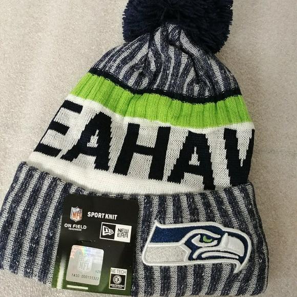 b4fe5740f7f618 New Era Accessories | Seahawks Beanie Knit Winter Hat | Poshmark