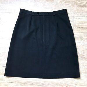 Club Monaco black mini skirt a line pencil skirt