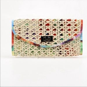 Ted Baker oversized colorful clutch