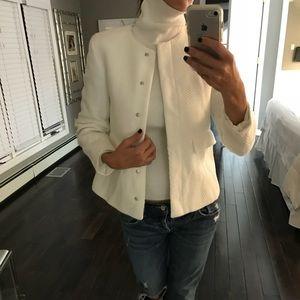 NWT Zara white chic blazer jacket XS