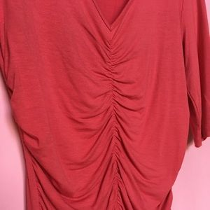 CAbi coral red t-shirt