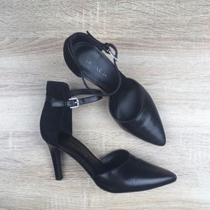 Franco Sarto Ankle Strap Pointed Toe Heels