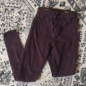 Gap - true skinny high rise in pretty plum!