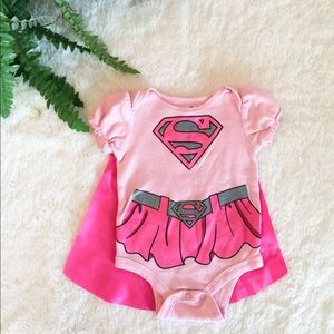 Other - Supergirl Onsie with Cape 0-3M