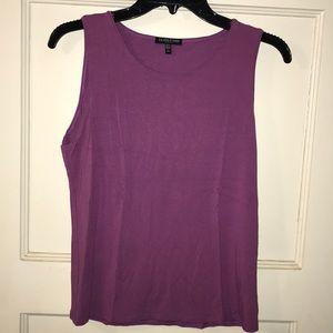 Eileen Fisher purple tank top