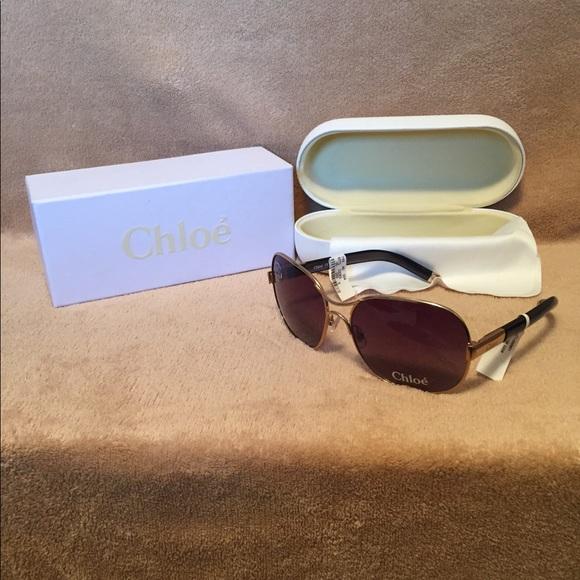 ed3e204011a7 NWT Chloe Aviator Sunglasses
