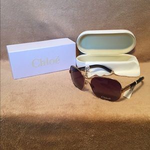 NWT Chloe Aviator Sunglasses