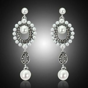 Betsey Johnson White Faux pearl earrings