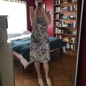 Zara Midi Floral Slit Dress
