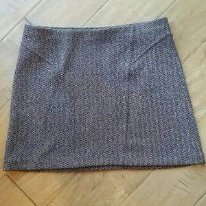 Express Brown Herringbone Miniskirt