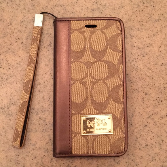 brand new ab71d c67fa Coach iPhone 6S plus leather wallet case