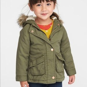 NWT Old Navy Hooded Field Jacket for Toddler Girls