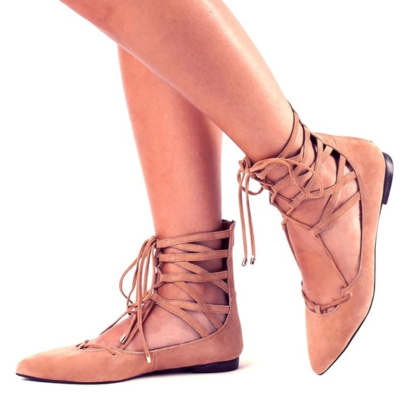 cheap 100% guaranteed Jeffrey Campbell Suede Lace-Tie Flats extremely low shipping fee cheap online oXJ3A