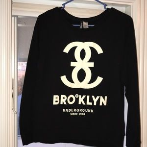 H&M Black Long Sleeve Top