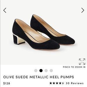Ann Taylor Suede Heels Black size 7