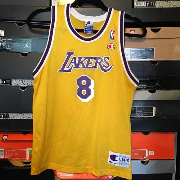 d865fa10d9f Vintage Champion Lakers Kobe Bryant Rookie Jersey