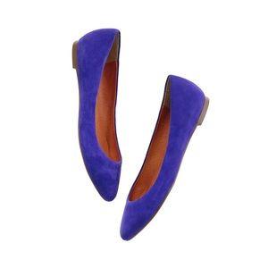 Madewell Cobalt Blue Sidewalk Skimmer in Suede