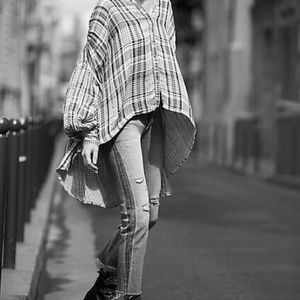Free People Come Over Buttondown Tunic