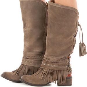 Suede Festival Boots