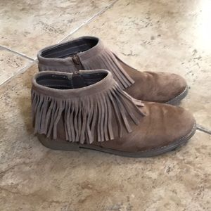 Mossimo Supply Co suede fringe booties