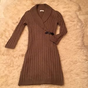 Calvin Klein cable knit sweater dress size M