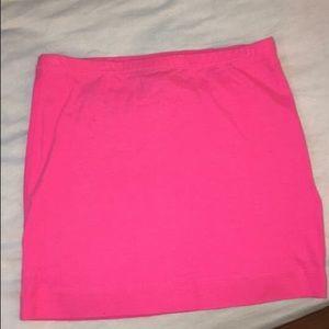H&M hot pink mini skirt