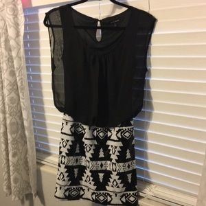 Never been worn black and white sequins dress
