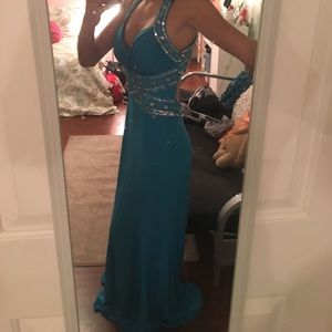 Dresses & Skirts - blue and silver sequined prom dress