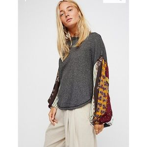 🌟 NWT FREE PEOPLE BLOSSOM THERMAL TOP