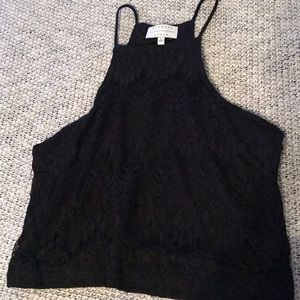 Kendal and Kylie lace crop shirt