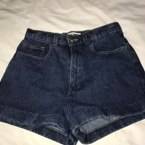 Height Waisted Jean Shorts