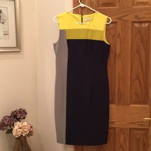 NWOT Calvin Klein color block dress size 8
