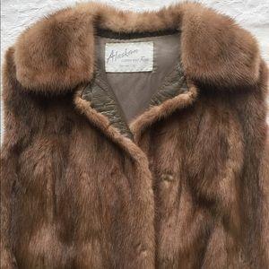 Vintage Mink & Leather Vest