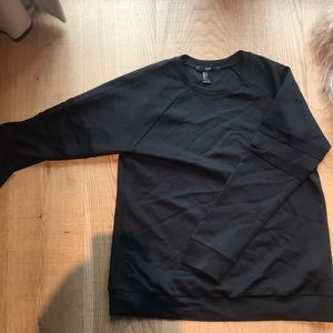 NEVER WORN. Black sweater with mesh sleeves