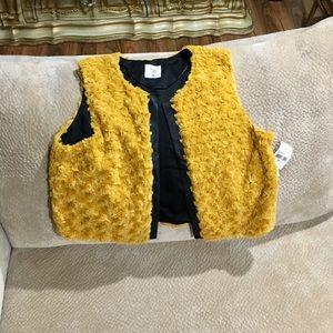 Mac+Jac New w/tag Gold Fur Vest. XL