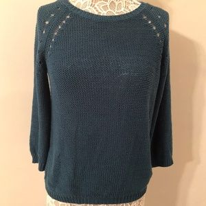 H&M Teal Open Knit Sweater Size Small
