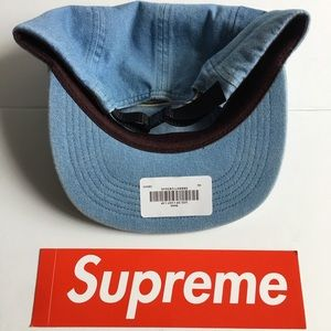 d7b6f3853b6 Supreme Accessories - Brand New Supreme Denim Side-Zip Camp Cap