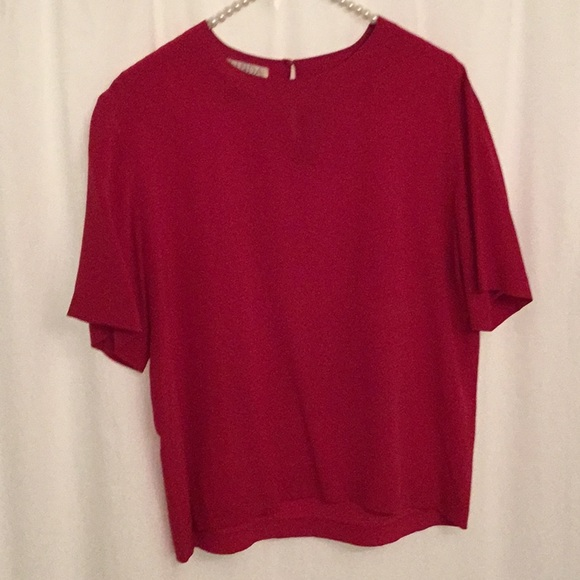 e29ba7b9d0df84 Linda Hutton Tops - Linda Hutton Raspberry Silk Top
