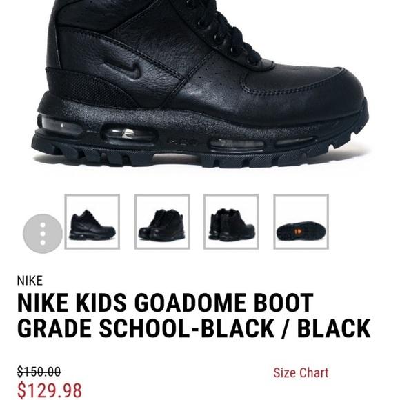 6b839f3e28 NEW Nike Air Max Goadome Boots Black Size 3.5. M_5a13573999086ad286001137