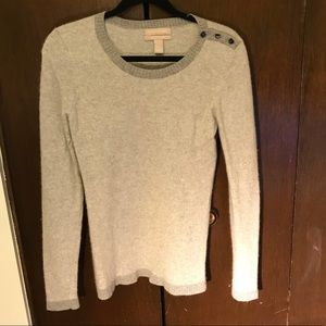 Gray wool and cashmere blend sweater
