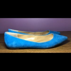 Banana Republic Pretty Blue Suede Flats 8 1/2 EUC